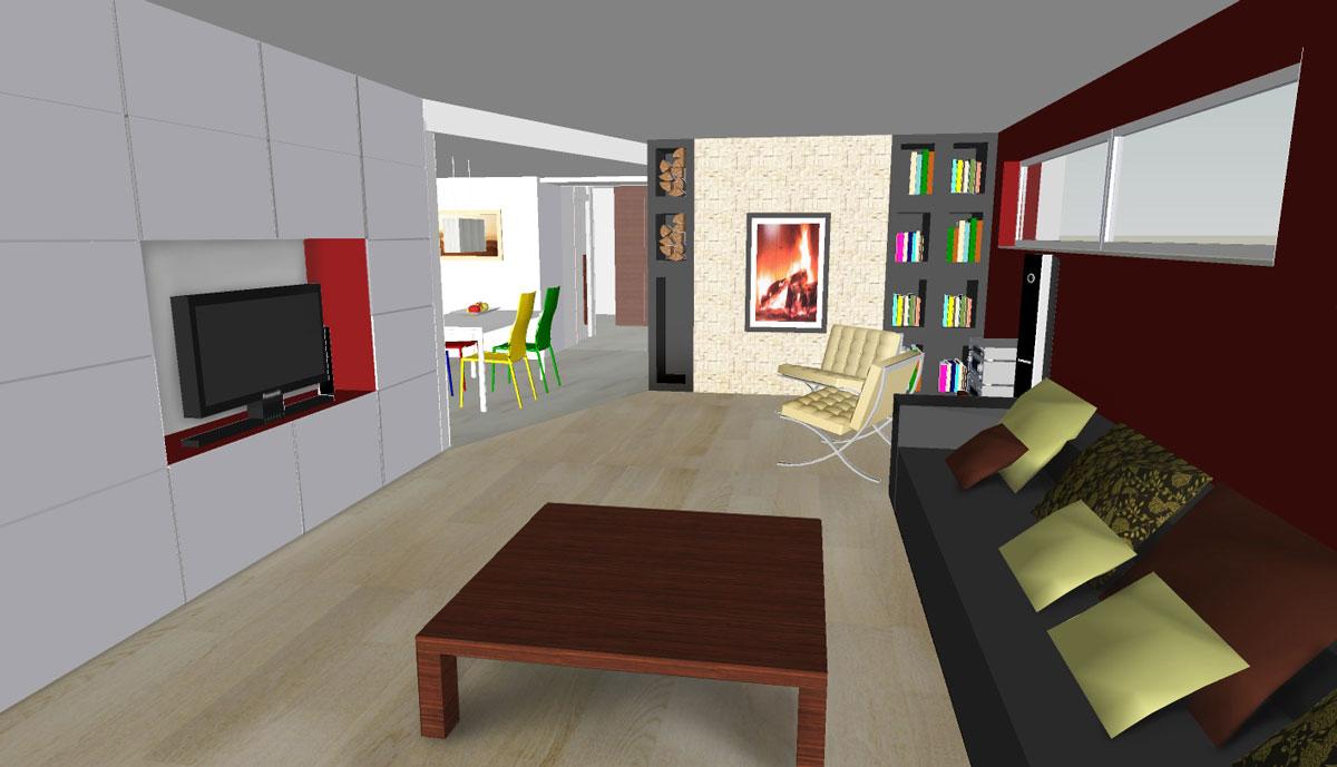 Notranje oprema hiše v Vodicah - Dnevni prostor