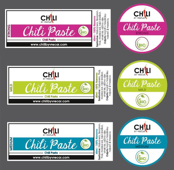 Nalepke za Chili pasto