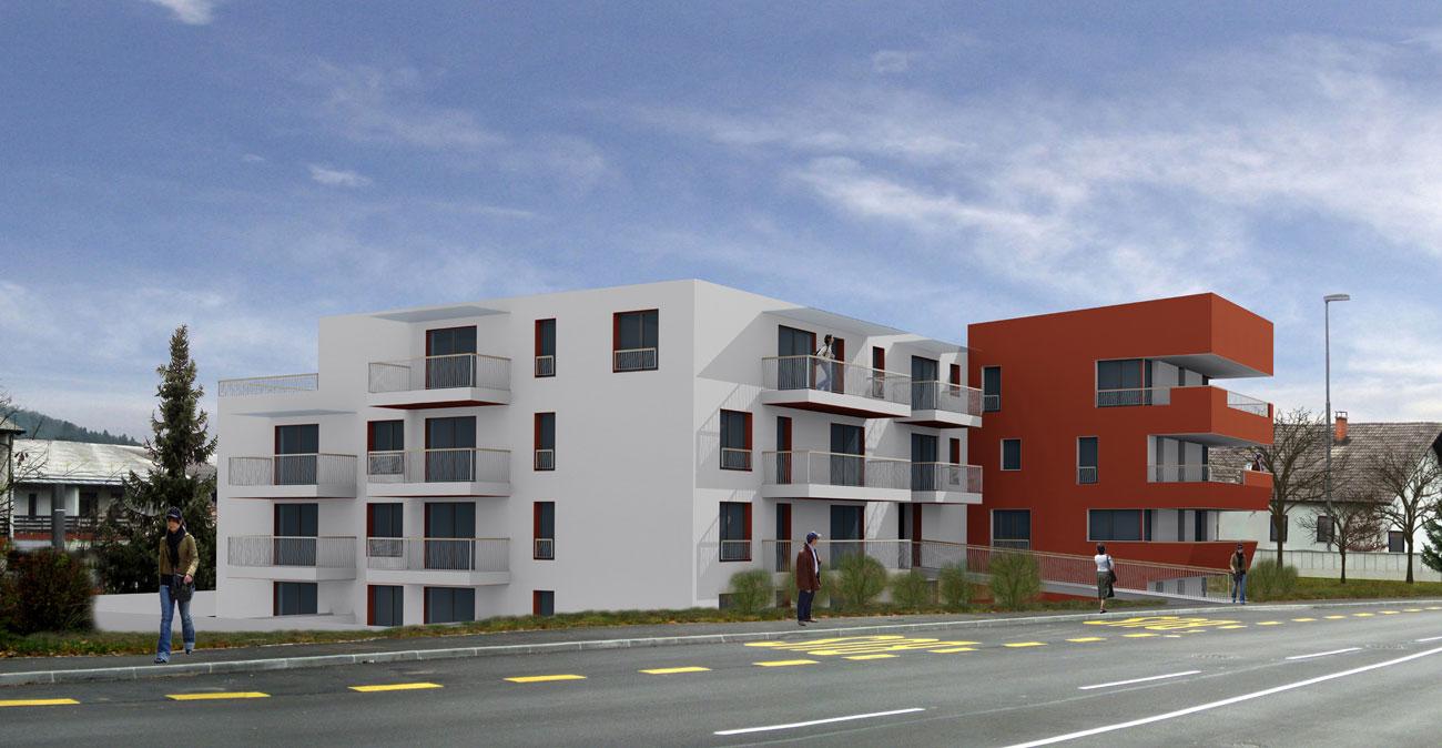 Stanovanjski blok (vizualizacija) Rožna dolina